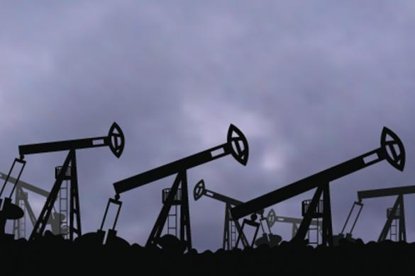 Oil Pump Jacks against blue sky